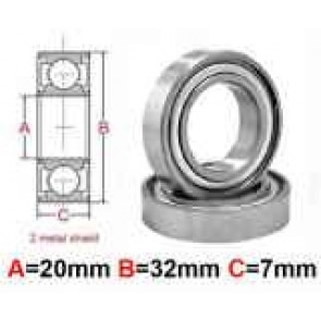 AT Stainless Steel Bearing MS 17x30x7mm Metal Seal (S6903ZZ) (1pc)