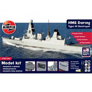 Airfix 1/350 HMS Daring Type 45 Destroyer Gift Set 50132