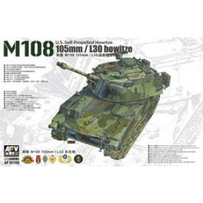 AFV Club 1/35 105mm/L30 howitze M108 U.S. Self-Propelled Howitze AUS DECAL 35108