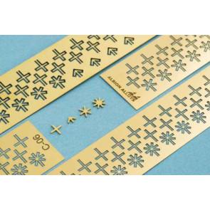 ALBION SHAPES 1.1mm CROSS+ARROW+STAR6+STAR8 C11