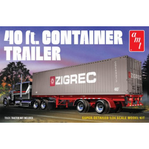 Amt 1/24 40Ft Semi Container Trailer 1196