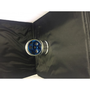 Ansmann 1/8 Minion Chrome-Blue Wheels ans 2160002