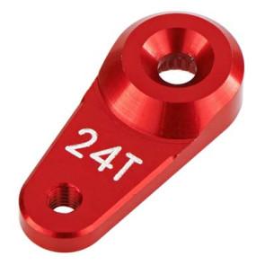 ARRMA Servo Horn Metal 24T Aluminum Red 340103