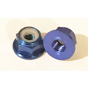 AT Alloy Flanged Lock Nut M2 Royal Blue 2mm (6pc)