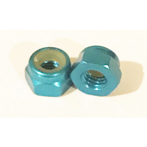 AT Alloy Lock Nut M2 Aqua Blue 2mm (6pc)