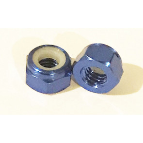 AT Alloy Lock Nut M2 Royal Blue 2mm (6pc)