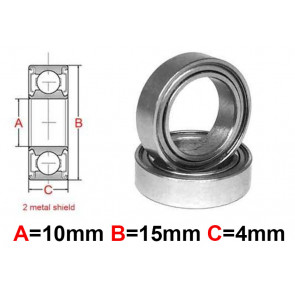 AT Stainless Steel Bearing MS 10x15x4mm Metal Seal (S6700ZZ) (1pc)