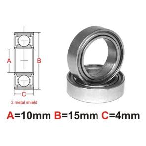 AT Bearing 10x15x4mm MS Ceramic Hybrid silicon nitride ball meta (1pc)