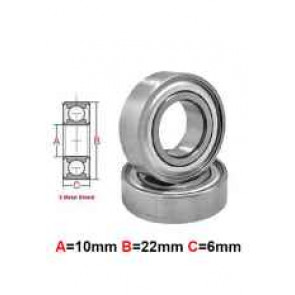 AT Stainless Steel Bearing MS 10x22x6mm Metal Seal (S6900ZZ) (1pc)