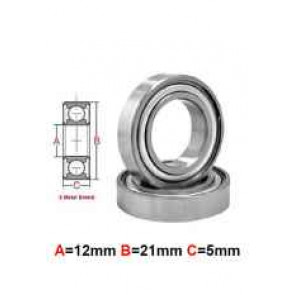 AT Stainless Steel Bearing MS 12x21x5mm Metal Seal (S6801ZZ) (1pc)
