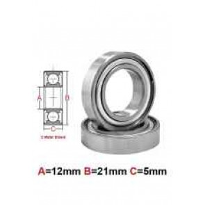 AT Bearing 12x21x5mm MS chrome steel metal shielded (6801zz) (1pc)
