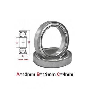 AT Bearing 13x19x4mm MS chrome steel Metal shielded (1pc)