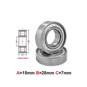 AT Stainless Steel Bearing MS 15X28X7 mm Metal Seal (S6902ZZ) (1pc)