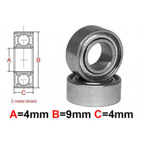 AT Stainless Steel Bearing MS 4x9x4mm Metal Seal (S684ZZ) (1pc)