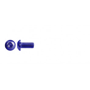 AT BHCSM3X6 (6pc) Blue Alloy button head cap screw metric M3x6mm (DIN7380)
