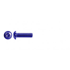 AT BHCSM3X8 (6pc) Blue Alloy button head cap screw metric M3x8mm (DIN7380)
