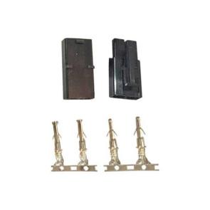 AT e3072 Tamiya Male/Female Connector (1pr) Black