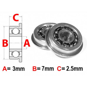 At Flanged Bearing 3x7x2.5mm Open (MF73) (1pc)