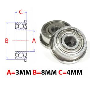 AT Flanged Bearing 3x8x4mm Metal Shields (F693ZZ) (1pc)