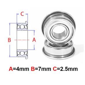 AT Flanged Bearing 4x7x2.5mm Metal Shields (MF74ZZ) (1pc)