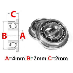 AT Flanged Bearing 4x7x2mm Open (MF74) (1pc)