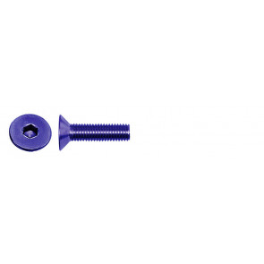 AT FHCSM3X10 (6pc) Blue Alloy flat head (countersunk) cap screw metric (Din7991)