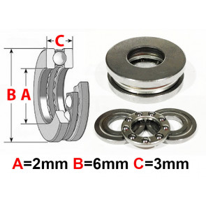 AT Thrust Bearing 2X6X3mm (F2-6) (1pc)
