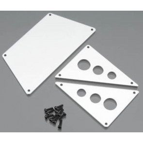 Axial Aluminum Front Skid Plates Silver ax30530