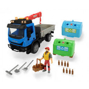 Dickie Toys Playlife Iveco Recycling Bottle Bank Container Set 29cm 31318