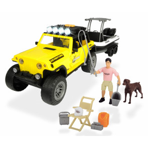 Dickie Toys Playlife Jeep Commando Plus Boat Fishing Set 41cm 54747
