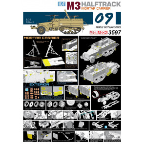 Dragon 1/35 IDF M3 Halftrack Mortar Carrier 3597