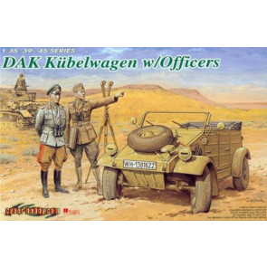 Dragon 1/35 DAK Kübelwagen w/Officers Typ 82 6364