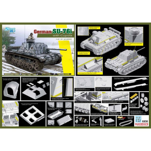Dragon 1/35 German SU-76i with Cupola 6856