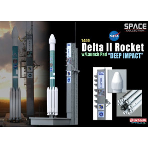Dragon 1/400 Delta II ROcket W/Launch Pad Deep Impact 56243