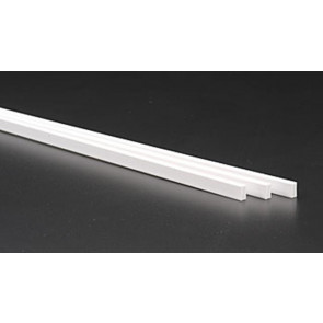 Evergreen Tube Rectangular Styrene Plastic .125 X .250Inch (3.2x6.3x355mm) (3pc) 257