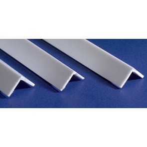 Evergreen Angle Styrene Plastic .100Inch (2.5x355mm) (4pc) 293