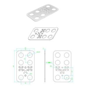 Feetech FK-FP001 Aluminum Foot Plate