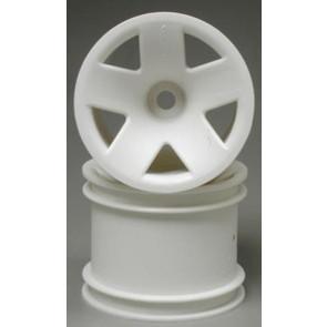 Hpi Wheel F5 Truck Wheel Front White (2) 3040