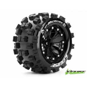 Louise 1/10 Mt-Mcross 2.8In Tyre W/Rim 1/2 Offset Black 12Mm Hex T3274Bh