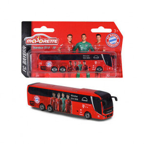 Majorette 1/100 FC Team Bus Bayern Munchen Fahrt Man 212053156