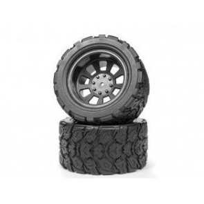 Maverick 1/10 Mounted Tires And Wheels (Mt) (2Pc) 150041