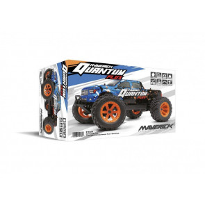 Maverick 1/10 Quantum MT 4wd Flux Brushless Electric Monster Ttruck (Blue/Orange) 150200