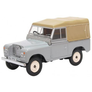 Oxford 1/43 Land Rover Series Iii Swb Canvas Mid Grey 43Lr3S003