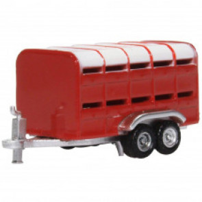 Oxford 1/148 N Livestock Trailer Red nfarm004
