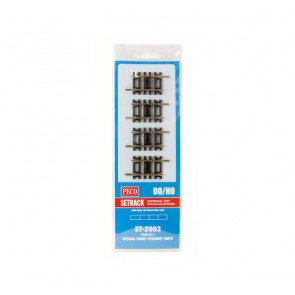 Peco HO/OO Special Short Straight (Pack Of 4 st203) st2003
