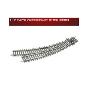 Peco Curved Double Radius R/H Turnout Insulfrog st244