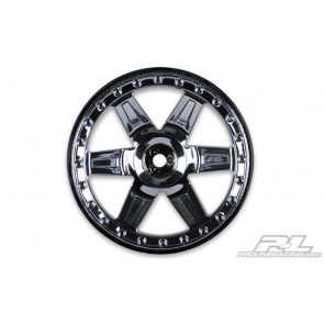 Proline Desperado 2.8in Blk Chr Fr/Rr Wheel (2) 2729-11