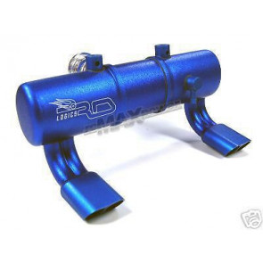 Rdlogics Twin Exhaust Pipe w/Dual Stingers for Savage Blue 61730xb