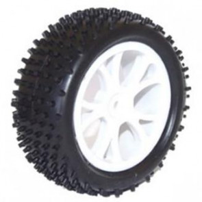 River Hobby 1/10 4wd front Buggy wheel Set (2pc) White (ftx-6300w) 10300w