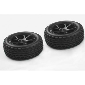 River Hobby 1/10 2wd Buggy Front Wheels (2pc) Black 10302b